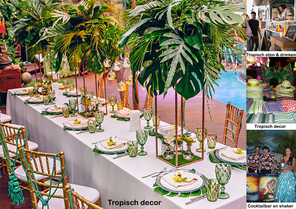 Tropisch decor Party